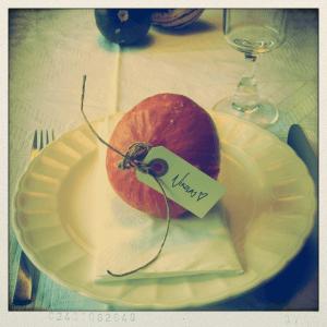Pyntegræskar som bordkort